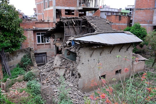 Collapsed house, Patan