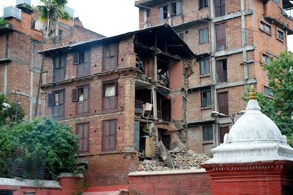 End of house collapsed, Khumbeshwor, Patan
