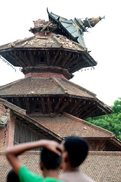 Roof of complex at Patan Durbar Square